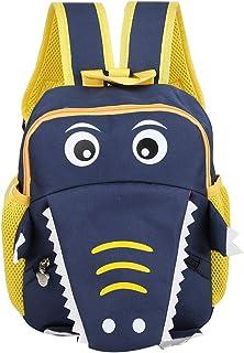 Mochilas escolares para niños, Mochila de cocodrilo de dibujos animados lindo para niños Mochila de moda para niños de preescolar Mochila de viaje para niños pequeños Niñas(Azul oscuro)