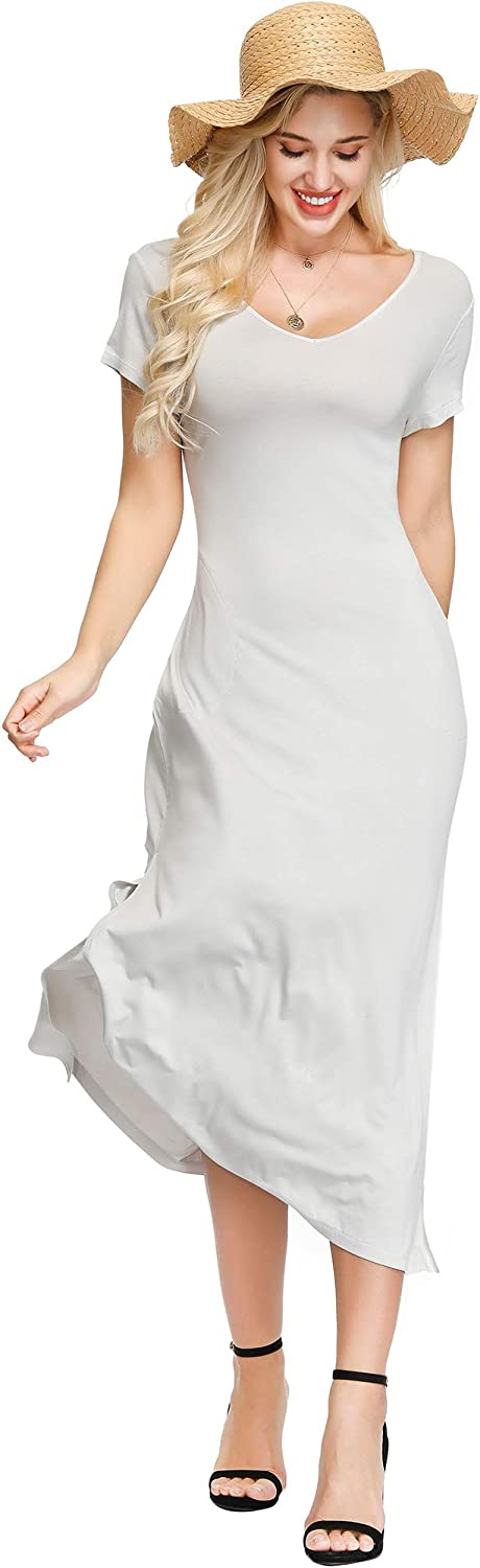 INK+IVY Women's Stretch Maxi Arlington Mall with Summer 55% OFF Dress Pockets
