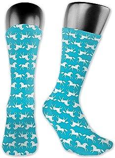 Dydan Tne, Caballos Turquesa Niños Niñas Caballo Pony Calcetines de Chicas Lindas, Animal de Dibujos Animados de Novedad Calcetines Lindos y Bonitos