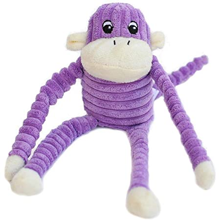 ZippyPaws - Spencer The Crinkle Monkey Dog Toy, Squeaker and Crinkle Plush Toy