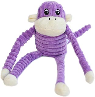 ZippyPaws - Spencer The Crinkle Monkey Dog Toy, Squeaker and Crinkle Plush Toy