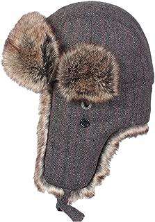 CHENLU Hochwertige Echte Pelzm/ütze Frauen Warme Geh/örschutzkappe Lei Feng Hut Pelz Winter L/ässige Pelzm/ütze Warme H/üte