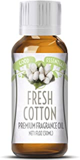 Fresh Cotton Scented Oil by Good Essential (Huge 1oz Bottle - Premium Grade Fragrance Oil) - Perfect for Aromatherapy, Soaps, Candles, Slime, Lotions, and More!