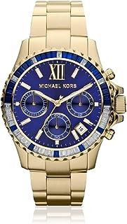 ساعة مايكل كورس ايفيريست زرقاء للنساء بسوار من الستانلس ستيل كرونوغراف - MK5754