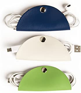 Brouk & Co Cord Snap - (Blue/Cream/Green) - Cable Organizer Snaps for Tech Accessories