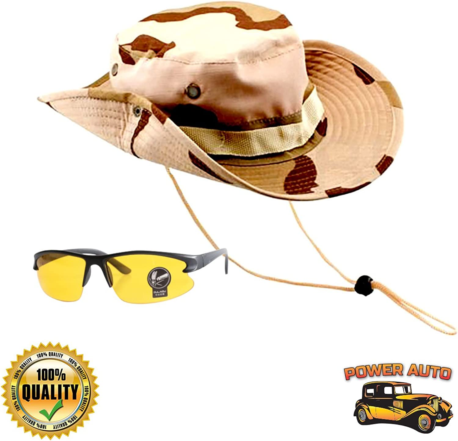 21e936966 Power Auto Mens Bucket Boonie Hat for Hunting, Fishing, Hiking ...