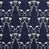 Baumwolljacquard Jersey Giraffe marine - Preis gilt für