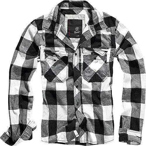 Brandit Check Shirt Herren Baumwoll Hemd 3XL Weiss-schwarz