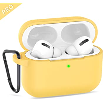 Ztotop Case for AirPods Pro 2019 Visible Front LED Shock /& Scratch-Resistant Case for AirPods Pro 3rd Gen 2019 Light Yellow Protective Silicone Cover Compatible with Wireless Charging