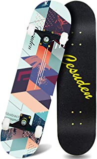 ANDRIMAX Skateboards-Complete Skateboards for Beginners Kids Boys Girls Adults Youth-Standard Skateboards 31''x8'' with 7 Lays Maple Deck Pro Skateboards, Longboard Skate Boards