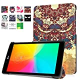 for LG GPad X 8.0 T-Mobile V521 V522 AT&T V520 Leather Case, Ultra Slim Lightweight Folio Stand Cover for LG G Pad III 3 8.0 V525 8 Inch Tablet (Tribal Style)