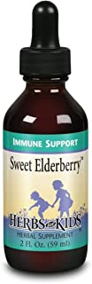 Herbs for Kids Sweet Elderberry, Drops, Cherry (Btl-Glass) | 60ml 2oz