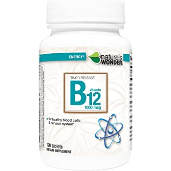 Nature's Wonder Timed Release B12 1000mcg Tablets, 120 Count