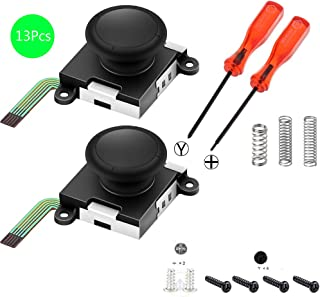 Hardli Two Pack Analog 3D Joy con Joystick Replacement for Nintendo Switch,joycon Switch joysticks compatiable with Left joycon Right Switch Joy con Controller Full NS Repair Tool Set