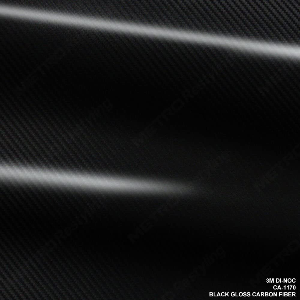 3M Sales for sale CA-1170 5 ☆ popular DI-NOC GLOSS BLACK CARBON FIBER 4ft x Sq ft 24 6ft