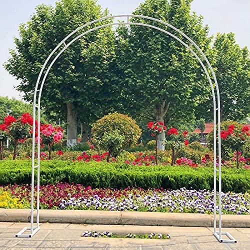 XDJ Metal Arco De Jardín, Ayudar A Escalada Plantas Pérgola, Varias Escaladas Planta Rimming De Jardín Boda Nupcial Arco De Jardín, Ensamblaje Blanco Negro (Color : White, Size : 200cm)