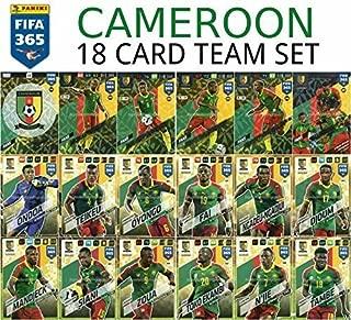 FIFA 365 2018 CAMEROON FULL BASE TEAM SET - 18 CARDS inc. ALL 6 FOIL CARDS - PANINI ADRENALYN XL
