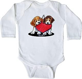 Beagle Heartfelt Duo Long Sleeve Creeper - KiniArt