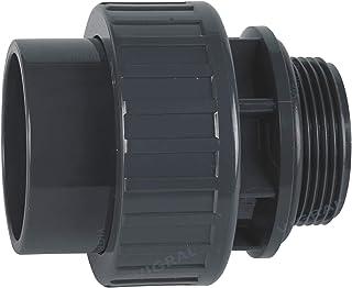 """Plimat PVC złączka klejąca 50 mm trójnik rura kątowa mufa nakrętka złącze śrubowe (PVC złącze śrubowe O-ring 50 mm x 1"""" 1/2)"""
