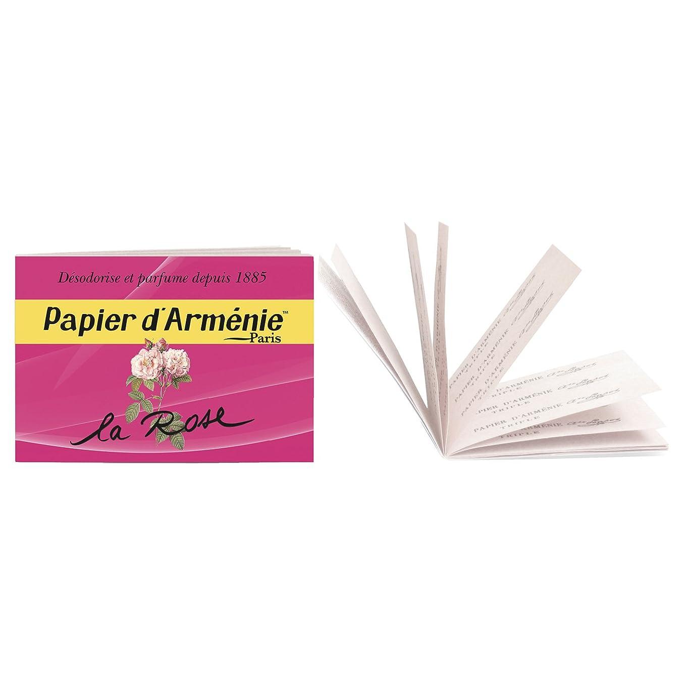 控える着服有効なパピエダルメニイ トリプル ローズ (紙のお香 3×12枚/36回分)
