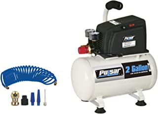 Pulsar Products PCE6021K 2 Gallon Air Compressor Complete (with Hose and Nozzle Kit)