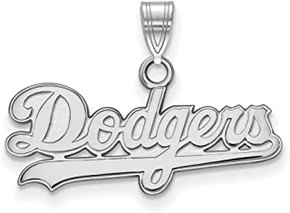 MLB Los Angeles Dodgers Sterling Silver MLB LogoArt Los Angeles Dodgers Small Pendant Size One Size