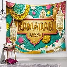 SevenShop Tapiz Mandala Indio Colgante de Pared Caligrafía árabe Bismillah Tapices islámicos Picnic Playa Sábana Mantel Decoración del hogar 150X200CmG429A-3