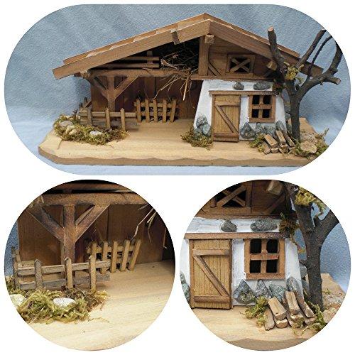 Garten und Holztrends Weihnachtskrippe (W12) Krippe Krippenstall Weihnachten Weihnachtskrippen Tischkrippen Krippenfiguren