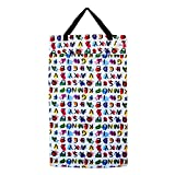 Large Hanging Wet Dry Bag for Cloth Diapers or Laundry (Abc)