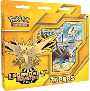 Pokemon TCG: Zapdos Legendary Battle Deck | Full Ready to Play Deck of 60 Cards | Includes Deck Exclusive Team Plasma Rainbow Holofoil Metallic Coin & Plasma Storm Magnezone
