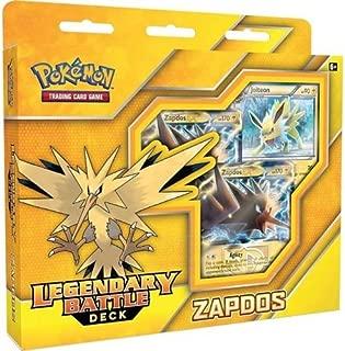Pokemon TCG: Zapdos Legendary Battle Deck | Full Ready to Play Deck of 60 Cards | Includes  Deck Exclusive Team Plasma Rainbow Holofoil Metallic Coin & Plasma Storm Magnezone