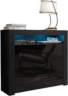 tall black gloss cabinet