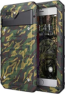Beeasy Funda Antigolpes para iPhone 7/8 / SE 2020,Impermeable Carcasa Resistente Waterproof Reforzada Metálica Grado Militar con Protector de Pantalla a Prueba de Polvos Case,Camuflaje