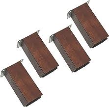 4-delige meubelpoten, vervangende fauteuil kabinetvoeten, bankpoten rubber, verticale vierkante bank dressoirpoten, salont...