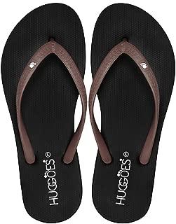 HUGGOES - Ultra Soft Comfortable Natural Rubber Summer Beach Flip Flops for Women