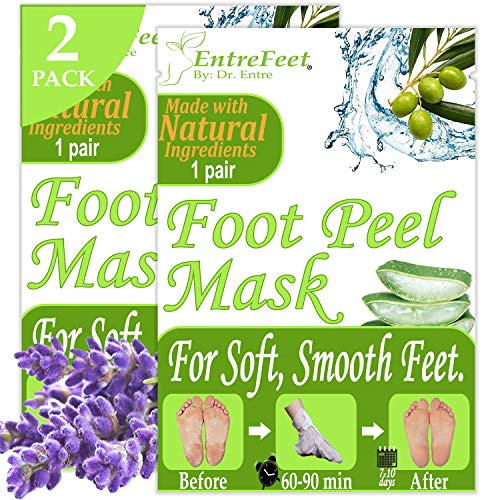 Dr. Entres Foot Peel Mask | 2 Pairs | Baby Soft Feet in Just 7 Days, Exfoliating Callus Remover, Free Foot Care E-Book Included