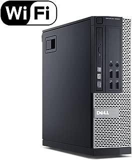 Fast Dell Optiplex 9020 Small Form Business Desktop Mini Tower Computer PC (Intel Core i5-4570, 8GB Ram, 256GB SSD, WIFI, DVD-RW) Win 10 Professional (Renewed)