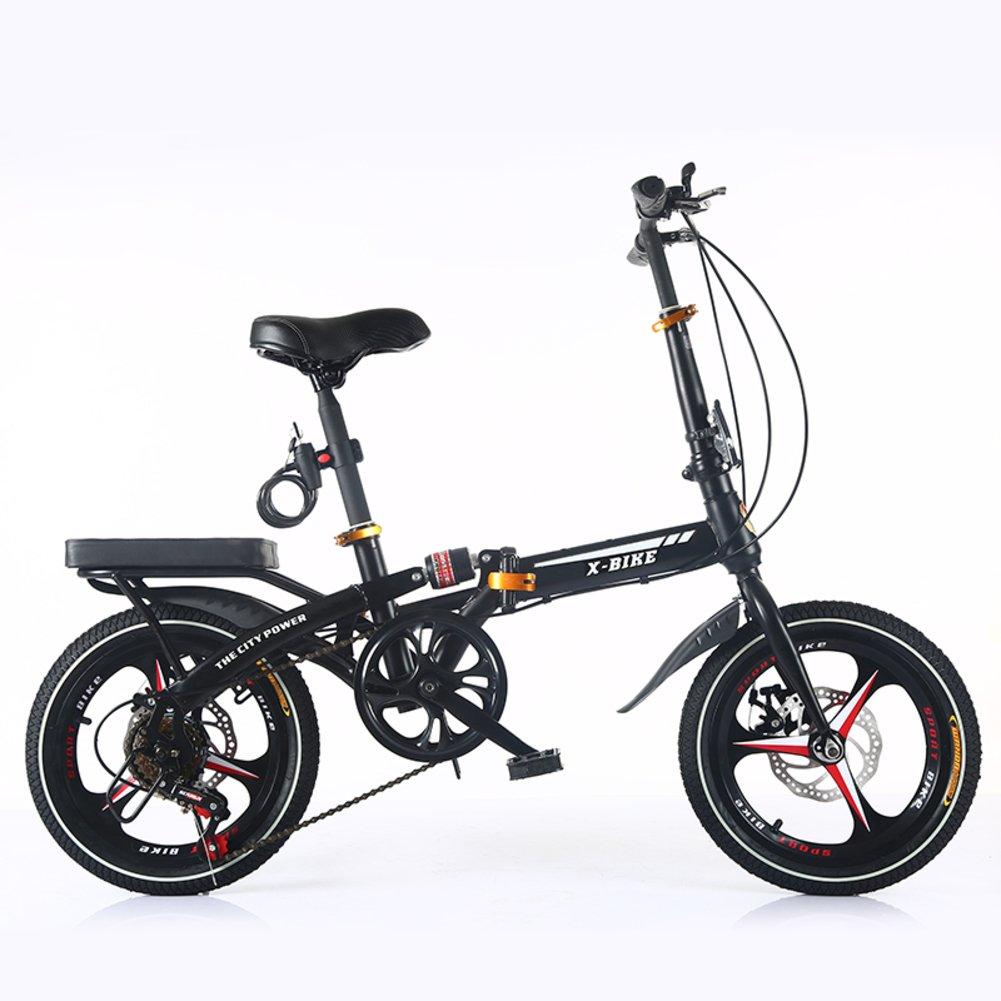 21 velocidades Plegable Bicicleta de montaña Bicicleta,24 pulgadas Bici plegable viajero Estudiantes masculinos y femeninos Cambio Amortiguador de choque doble Adulto -Negro 105x125cm(41x49inch): Amazon.es: Deportes y aire libre