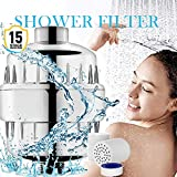 AicLuze 15 Stage Shower Filter with 2 Replacement Cartridge, High...