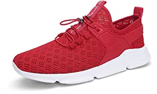 Fashion Shoes, Fashion Shoes Men Athletic Shoes for Sports Shoes Lace Up Style Knitting Mesh Material Fashion Pure Color and Individual Sewing Comfortable Shoes, Breathable Shoes