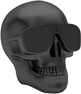 Skull Bluetooth Speakers, DORNLAT Portable Wireless Speaker Built-in Mic, Cool Creative Design Bass Stereo Speaker for Hal... photo