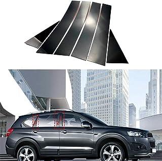 1車 カラーモール インテ ウィンドウピラーポストトリムキット B&C ドアフ式 エッジプロテクターフC-h-e-v-r-o-l-e-t Captiva 2008-2018 に最適