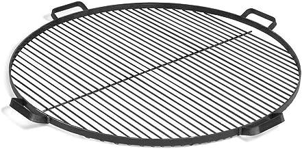 BlackOrange Grillrost aus Stahl Durchmesser 80 cm mit 4 Haltegriffen als Grillauflage für Feuerschalen Durchmesser 80 cm