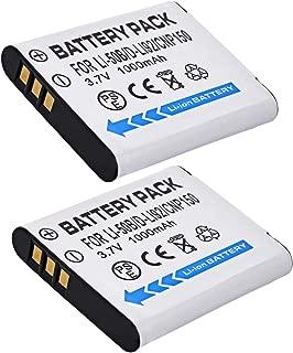 Battery 2 Pack for Ricoh WG-20, WG-30, WG-30W, WG-40, WG-40W, WG-50 Digital Camera