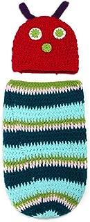 ベビー用着ぐるみ コスチューム 寝相アート ベビー服 着ぐるみ かわいい 毛糸 手編み 新生児 赤ちゃん 男女共用 出産祝い 写真 撮影(あおむし)
