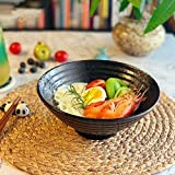ZHANGXJ Vibrantes □ Colores Estilo Japonés de Cerámica de 8 Pulgadas Tazón Ramen Sopa de Fideos Retro Vajilla Bowl Cena Tazón de Cerámica Porcelana