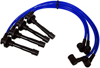 VMS RACING 92-00 10.2mm High Performance Engine SPARK PLUG WIRES Wire Set in BLUE Compatible with Honda Del Sol Civic Si VTi Si SiR Si-RII VTi-R EG2 EG6 EK EK4 EM1 EG2 DOHC VTEC B16
