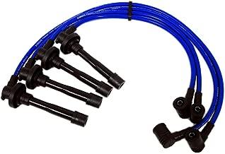 VMS RACING 92-00 10.2mm High Performance Engine SPARK PLUG WIRES Wire Set in BLUE Compatible with Honda Del Sol Civic Si VTi Si SiR Si-RII VTi-R EG2 EG6 EK EK4 EM1 EG2 DOHC VTEC B16