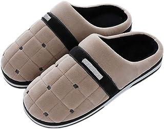XXYANZI Chaussures Hiver Chaussures Homme Maison Pantoufles Peluche Chaud Pantoufles Anti-dérapante Chaussures de Maison C...
