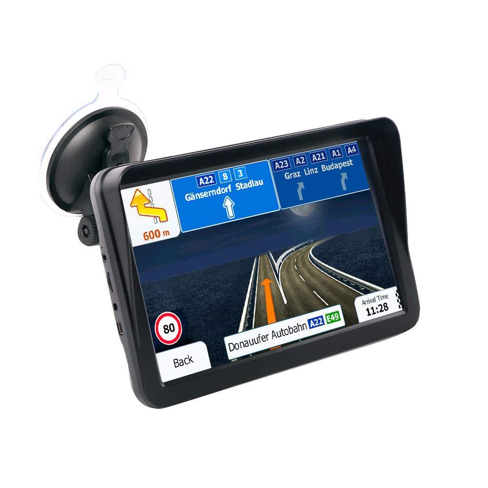 ACAMPTAR Pantalla Capacitiva del Coche de 9 Pulgadas Navegador GPS FM 8G 256M Reproductores Mp3 / Mp4 Visera Solar ConduccióN Navegador de Voz Mapa de Oriente Medio: Amazon.es: Coche y moto